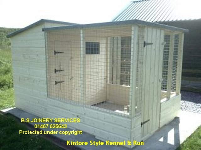 covered dog kennel with shed